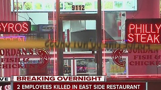2 men killed at restaurant on east side - Video