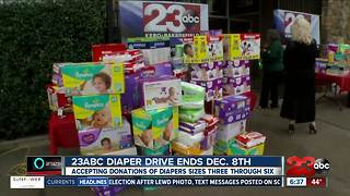 23ABC Diaper Drive accepting donations through Dec. 8 - Video