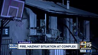 Apartment fire breaks out, explosion may have sparked it - Video