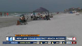 New law could restrict beach access. - Video