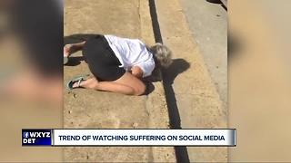 Trend of watching people suffer on social media - Video