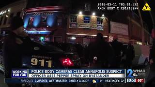 Police body cameras clear Annapolis suspect - Video