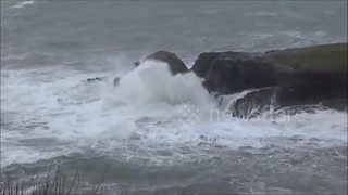 Storm Fionn reaches North Cornwall with massive waves - Video