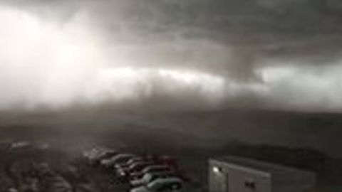 Ominous Storm Hits Estevan, Saskatchewan, Amid Tornado Warning