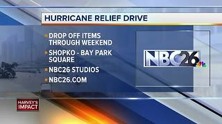 Shopko and NBC26 Hurricane Harvey Relief Drive begins Thursday