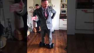 Conor McGregor's Coach Gets a Little Too Confident on Hoverboard - Video