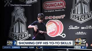 Local boy shows off yo-yo skills - Video