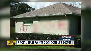 Racist slur painted on home of Citrus County family - Video