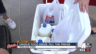 Unique food drive: Fill the Fridge - Video