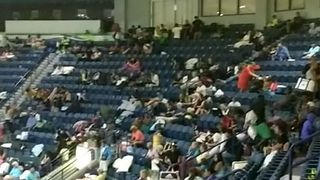 Germain Arena Turned Hurricane Evacuation Shelter Houses Thousands - Video