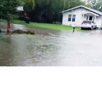 Flood Waters Rise Outside Texas Home in Weslaco - Video