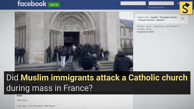 Did 'Muslim Migrants' Attack a Catholic Church During Mass in France?