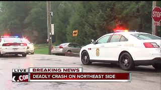 Man killed in crash on Indy's northeast side - Video