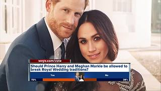 Royal wedding to break with traditions