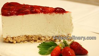 No-bake ricotta & strawberry cheesecake recipe - Video
