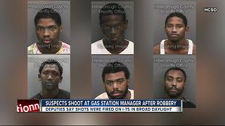 Deputies: Gang member, accomplice burglarized gas station, shot at driver on I-75 - Video