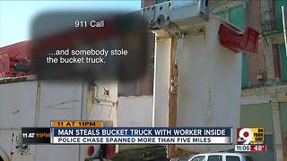 PD: Suspect steals utility truck, crashes in OTR - Video