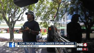 Man follows drunk driver - Video