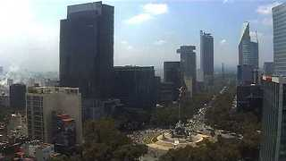 Web Camera Shakes, Smoke Rises After Mexican Earthquake - Video