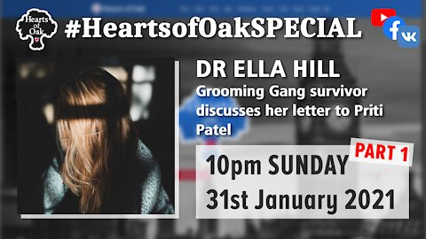 Dr Ella Hill (Grooming Gang survivor) discusses her letter to Priti Patel .