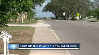 15-year-old Haines City high school student attacked while walking to school Thursday