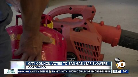 Coronado votes to ban gas leaf blowers