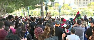 Black Lives Matter protest on Las Vegas Strip
