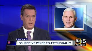 Mike Pence tagging along for Donald Trump's Phoenix visit