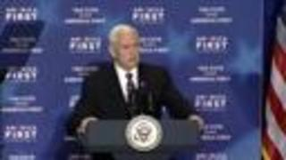 Vice President Pence remarks on the spirit of the America people - Video