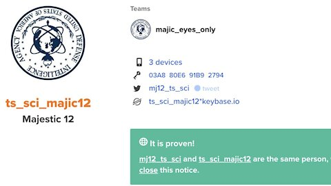 [MEQ #67: 14 August 2020] Majestic 12 verify their new Twitter account @MJ12_TS_SCI via Keybase
