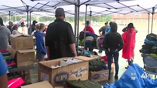 KCPS distributes free backpacks with school supplies