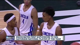 Emoni Bates is the first sophomore to ever win National Gatorade Player of the Year award