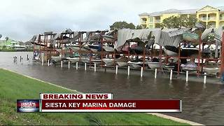 Siesta Key Marina damage - Video