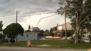 Crooked Waterspout Spotted Off Hudson Beach