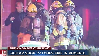 2nd alarm fire called at North Phoenix Guitar Center - Video