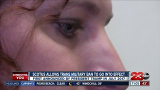 Scotus allows trans military ban to go into effect