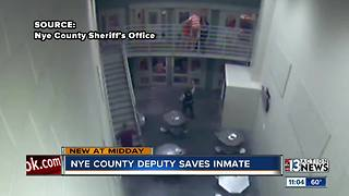 Nye County Sheriff's Office deputies save inmate's life - Video