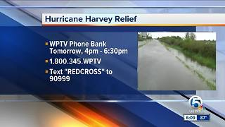 Hurricane Harvey relief telethon to air Monday on WPTV - Video