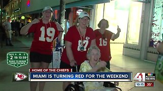 Miami also turning red Friday before Super Bowl