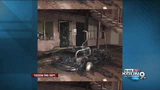 Three people displaced after apartment fire - Video