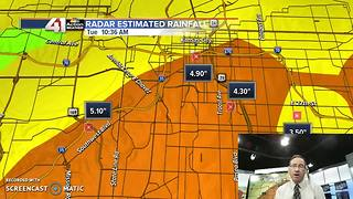 Flash flooding sets another record crest level for Indian Creek one month later - Video