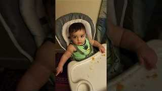 This Adorable Baby Loves Sweet Potatoes - Video