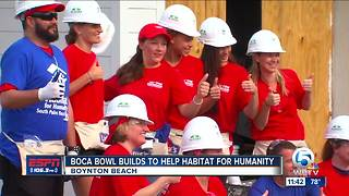 Boca Bowl partners with Habitat for Humanity - Video