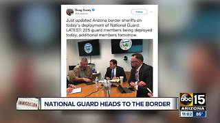 Arizona National Guard heads to the border - Video