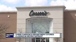 Three Carson's stores in metro Detroit may have to close