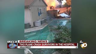 2 plane crash victims being treated at hospital - Video