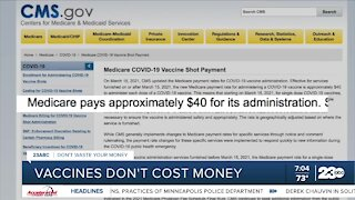Being billed for the COVID vaccine? Vaccines don't cost anything.