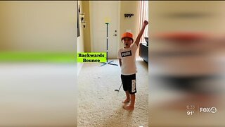 5 year old golfer from Bonita Springs practices trick shots during pandemic