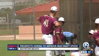 PBA commit, MLB Draft hopeful Andrew Carver shines in South Florida Collegiate Baseball League - Video