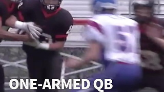 One-Armed QB Excels In His First High School Game - Video